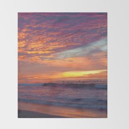 Pink Sunset Throw Blanket
