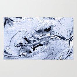 Handmade marble blue texture. Rug