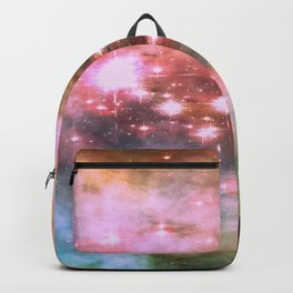 Colorful Pink Sparkle Carina Nebula Abstract Backpack