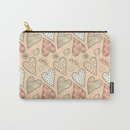 Pattern With Hearts Carry-All Pouch