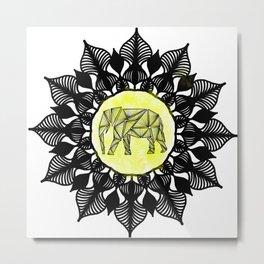 Ancient Elephant Metal Print