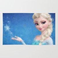 frozen elsa Area & Throw Rugs featuring Elsa - Frozen by lauramaahs