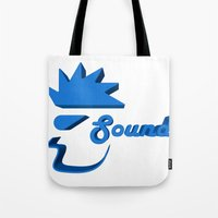 sound Tote Bags featuring Sound by Zeep Design