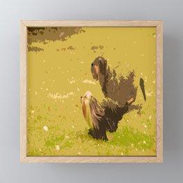 Dog's Running Race Framed Mini Art Print