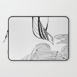 Squiggly Cloud and Squiggly Bird Laptop Sleeve