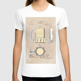 patent Beer Mugs T-shirt