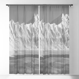 THE BOOKS Sheer Curtain