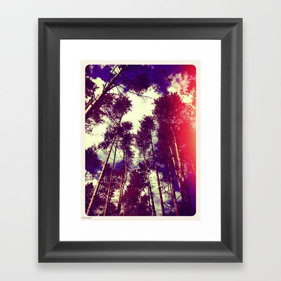 There is a pleasure in the pathless woods... Framed Art Print