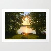 Sunset on the Lake -- Lake Carmi, Franklin, VT Art Print