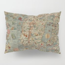 Carta Marina et Description 1539 Pillow Sham