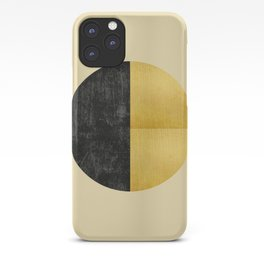 Black and Gold Circle 03 iPhone Case