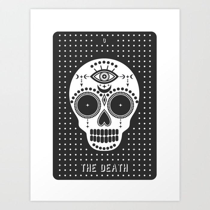 Minimal Tarot Deck The Death Kunstdrucke