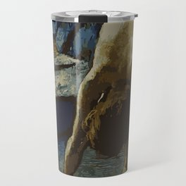 Woman in Bath - Degas - Vector Series Travel Mug