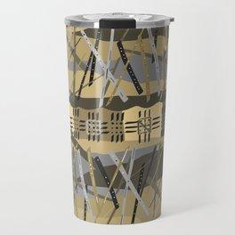 Abstract Stripe Active Wear Pattern Travel Mug