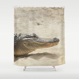 Alligator Photography | Reptile | Wildlife Art Shower Curtain