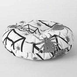 Black And White Halloween Floor Pillow