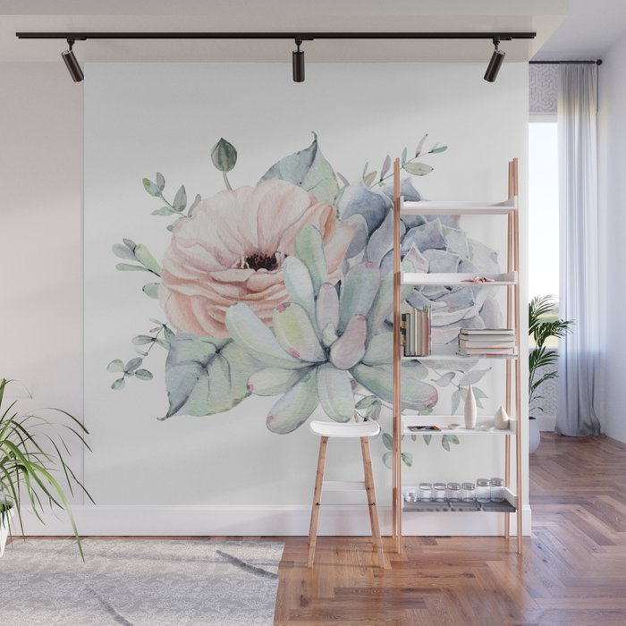 Pretty Succulents by Nature Magick Wall Mural