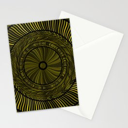 Golden Circles Art Stationery Cards
