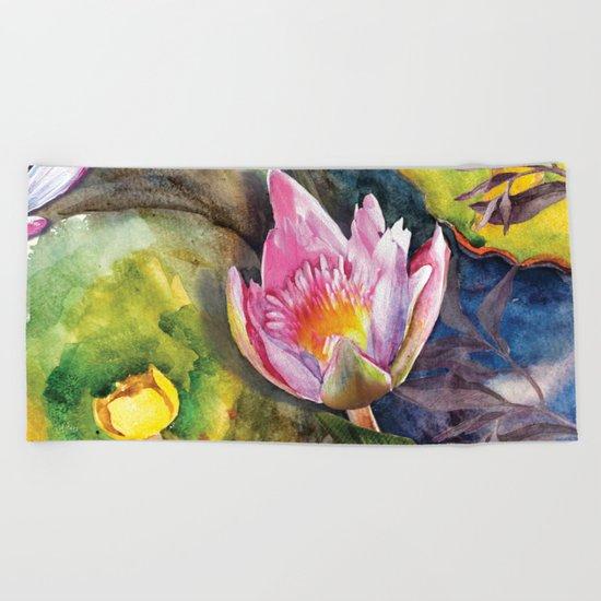 Macro Flower #16 Beach Towel