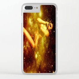 Golden Galaxy Woman : Nude Art Clear iPhone Case