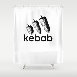 Funny Kebab Shower Curtain
