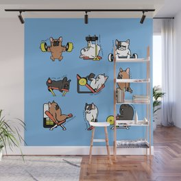 Leg Day with French Bulldog Wall Mural