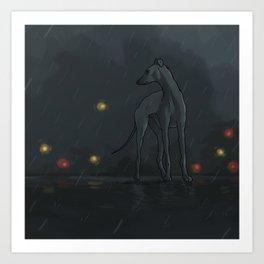 Rain's dog Art Print