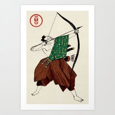 Slice & Dice - Archer Art Print