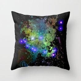 The Zodiac Sign -- Capricorn Throw Pillow