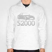 honda Hoodies featuring Honda S2000 - silver - by Vehicle