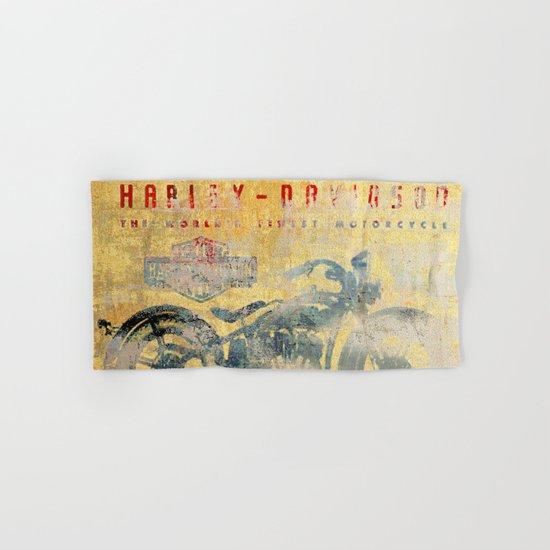HD - Vintage Motorcycle Hand & Bath Towel