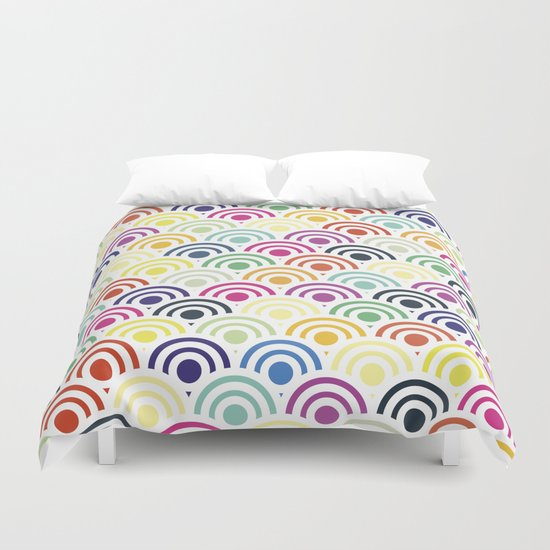 Colorful Circles II Duvet Cover