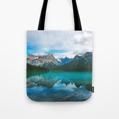 The Mountains and Blue Water Tote Bag