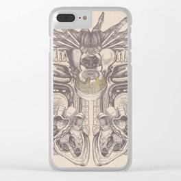 Anatomy Collage 2 Clear iPhone Case