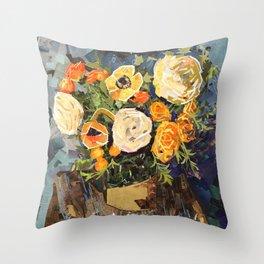 Tin Can Studio Floral #3 Throw Pillow