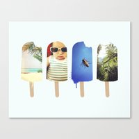 popsicle Canvas Prints featuring Popsicle by Jemma Pope