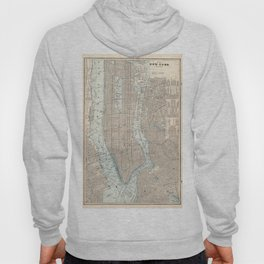 Vintage Map of New York City (1893) Hoody