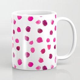 Minimal Abstract Dots Pink Coffee Mug