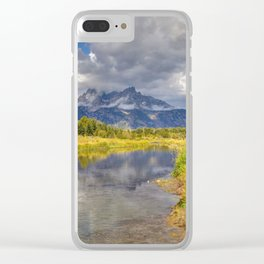 The Grand Tetons Panorama Clear iPhone Case