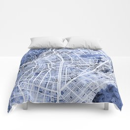 Cali Colombia City Map Comforters