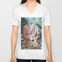 suit V-neck T-shirts featuring Suit by John Turck