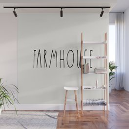 FARMHOUSE wording Typography Wall Mural