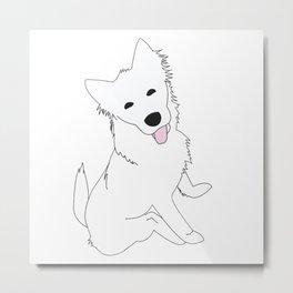 White Pupper Metal Print