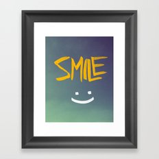 Smile (: Framed Art Print