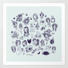 All The Spooky Stuff Art Print