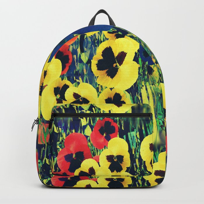 Collage of Pansies Backpack