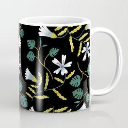 Floral Black Coffee Mug