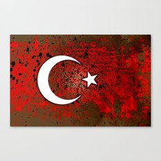 circuit board turkey (flag) Canvas Print