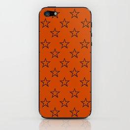 Orange stars pattern iPhone Skin