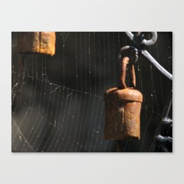 Bells and Spiderwebs  Canvas Print